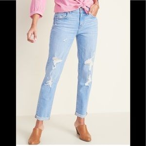 Mid rise straight boyfriend jeans Old Navy